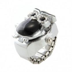 6X (25x20 mm-es bagoly gyűrűs óra-ujjóra-ujj-óraóra-gyűrű fém strasszos L6V2