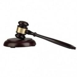 Fa bíró marok aukciós kalapács hangblokkral az auc Y8O4 ügyvéd bíró számára