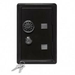 Fekete - Kreatív Piggy Bank Mini Atm Pénztár Jelszó Digitális Érmék Készpénzbetét E0A1