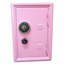 Rózsaszín - Kreatív Piggy Bank Mini Atm Pénztár Jelszó Digitális Érmék Készpénzbetét E0A1