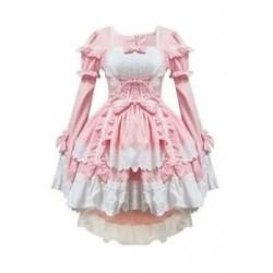 1X (rózsaszín jelmezek szobalány ruhák anime ruházat cosplay D2I4)