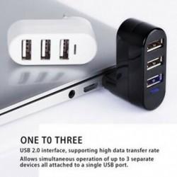 Kiváló minőségű hordozható számítógéphez, a számítógép elosztójához, USB Forgatásos elosztó Mini Adapter 3