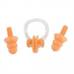 1X (Narancssárga orrcsipesz szilikon füldugók készlet úszáshoz C4F3)