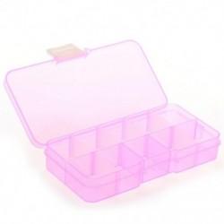 1X (Pillbox Box 10 eltávolítható tokok ékszer hamis körömtablettákhoz, gyógyszer G8R8