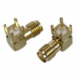 1X (2 db SMA női csatlakozópanelre szerelt NYÁK-forrasztható csatlakozók arany hangszínű Q2C3)