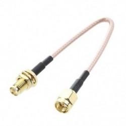 SMA aljzat SMA hüvelyes F / M antenna csatlakozókábel adapter fekete   arany C1W M7I2