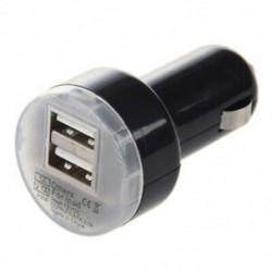 1X (fekete kettős USB autós töltő hálózati adapter Apple iPad 2 J8X1-hez)