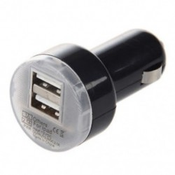 Fekete kettős USB autós töltő hálózati adapter Apple iPad 2 P4R0 készülékhez