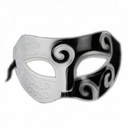1X (Fekete-fehér római görög férfi velencei Halloween jelmez party maskara A8S9
