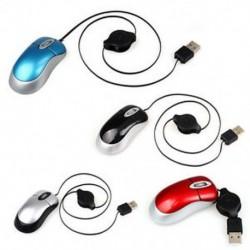 Hordozható, bővíthető, mini USB vezetékes optikai egér egér PC M7M6 számítógéphez