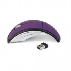 2,4 GHz-es vezeték nélküli laptop összecsukható, összecsukható íves optikai egér, USB egér, lila Q B4Q4