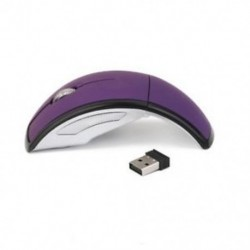 2,4 GHz-es vezeték nélküli laptop összecsukható, összecsukható íves optikai egér usb egér lila Z W8U5