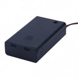1X (két vezetékes be- / kikapcsoló kapcsoló fekete 3 x 1,5 V-os AAA elemtartó tok w co A8N3