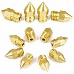 22 darabos 3D nyomtató fúvókák, Mk8 extruder fúvóka 0,2 mm, 0,3 millió, 0,4 mm, 0,5 millió I2L2