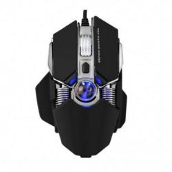 1X (G800 usb vezetékes játék egér, ergonómikus mechanikus egerek, 9 gombos makró PrJ5F9)