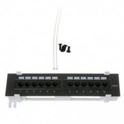 3X (Hálózati eszközkészlet, 12 portos Cat6 javítópanel Rj45 hálózati falra szerelhető Rac Z2O2
