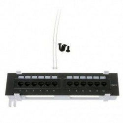 4X (Hálózati eszközkészlet, 12 portos Cat6 javítópanel Rj45 hálózati falra szerelhető RacL8L5