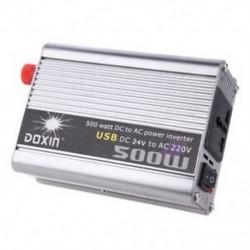Doxin 500 Watt   USB hordozható feszültségtranszformátor DC 24 Q4U8 teljesítmény-inverter