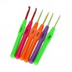 6db többszínű műanyag horgolt horgok, kötőtűkészlet, ergonómikus G X6N5