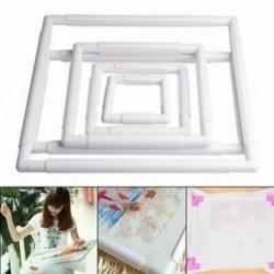 1X (kézi négyzet alakú hímzés műanyag keret Hoop keresztszemes kézműves D G4C5