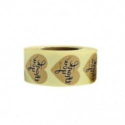 1X (arany köszönöm matricák címkéje 500 db szív alakú és kerek öntapadós címke S8M7