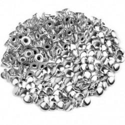 100db DIY üreges köröm kalapszegecs 6 mm ezüst Y5Y5 L2E0
