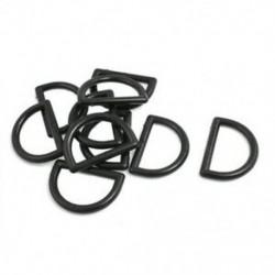 1 &quot javító alkatrészek fekete műanyag D gyűrűs csat a hátizsák táska számára, 10 db U2K7