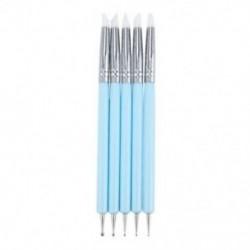 1X (5 X kétirányú golyóstílusú pontozási eszköz, szilikon színű alakkefék, Pen f T6Q7
