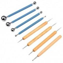 8 darabos golyóstílusú pontozási eszközök agyag kerámia kerámiababa modellezéshez P L4A7