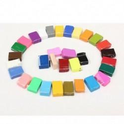 32 db színes agyagpolimer modellező lágy agyagblokkok Gyurma kézműves DIY F8M1