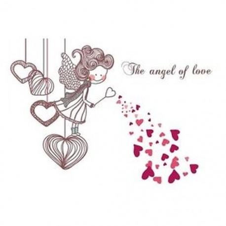 A szerelem angyala falimatrica gyerekszobákhoz hálószoba dekoráció Gyerek sti J8K2