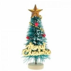 1: 12 Dollhouse miniatűr karácsonyfa &quot Boldog karácsonyt&quot  betűk táblája Wo F6R6