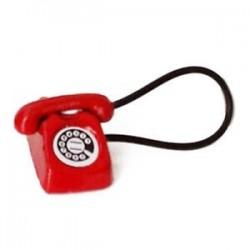 Piros - 1:12 Babaház Miniatűr Régimódi Vintage Telefon Telefon Piros S3T7 F0O T2H3