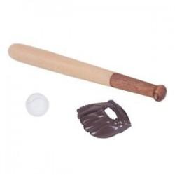 KACAKID 1: 12 Babaház realisztikus bútor Mini baseball ütő és kesztyű Se O5C4