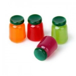 4 üveg élelmiszer-íz keverék gyümölcs lekvár Élelmiszerbolt 1/12 Miniatűr babaház N1H5