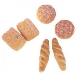 6db kenyér az 1/12 Dollhouse Miniature V2V9-hez