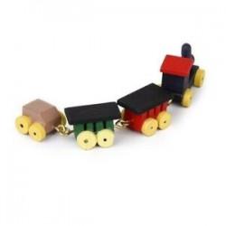 1/12 Babaház miniatűr fahordók és vonatjáték-készlet B5Q3