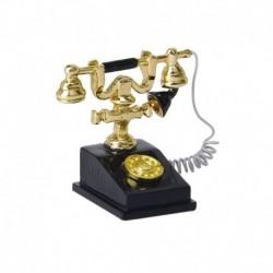 1/12 babaház miniatűr retro telefon vintage telefon O5L1