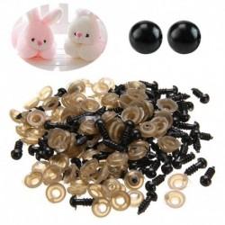 1X (200 db fekete műanyag szem a mackóba tartozó állati báb diy kézműves készítéséhez (6 mm) R7V7)
