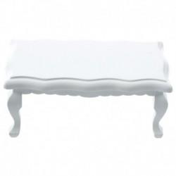 1/12 Dollhouse miniatűr bútorok hullámos szélű fa kávé / végasztal - Whit J5U9