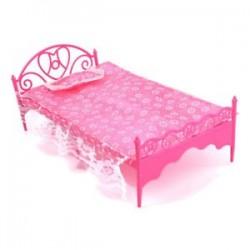 Gyönyörű műanyag hálószobás bútor Barbie Dolls Dollhouse U1X1-hez