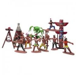 Indiai törzsek játékbaba figura Indián művészet (Méret: 7 cm) Y4X1 U4D0