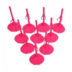 10 X tartó talapzatjelző állvány Barbie Doll -Rose Red V8V4-hez