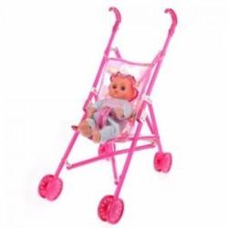 1X (Dolls Buggy babakocsi tolószékű babakocsi összecsukható játékbaba babakocsi Baby Doll B3Z7)