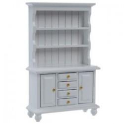 1X (1/12 Dollhouse miniatűr bútor multifunkciós fa szekrény könyvespolc W O8S3