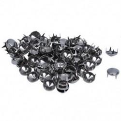 1X (100 ezüst tónusú, 10 mm-es, kerek, kúpos csapokkal, Punk Rock-körömfej Spik N2U4