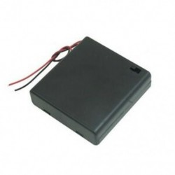 1X (SODIAL (R) műanyag be- és kikapcsoló) 4 x 1,5 V-os AA elemtartó w Bl Bl W2G2