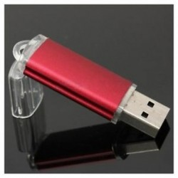 Piros 32 GB-os USB2.0 Flash Drive memóriakártya toll adattároló hüvelykujjlemez-ajándék F2J4