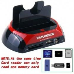 1X (2,5 hüvelykes HDD dokkoló állomás 3,5 hüvelykes IDE SATA Dual USB 2.0 klón Hard D K5O1