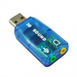 1X (külső USB 2.0 5.1 CH 3D hangkártya audio adapter R4W3)